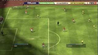 FIFA 09 (PS3) CHAMPIONS LEAGUE FINAL MANCHESTER UNITED vs FC BARCELONA 1st HALF
