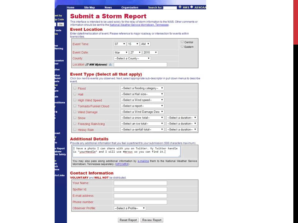 Submit your snowfall reports to the National Weather Service