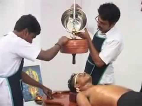 Shirodhara- Ayurvedic Massage techniques fronm Kerala India