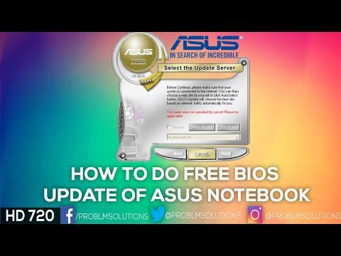 How to do free bios update of Asus Notebook | Problems Solutions