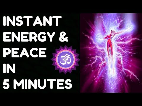 INSTANT ENERGY & PEACE IN 5 MINUTES : 100 % RESULTS !!