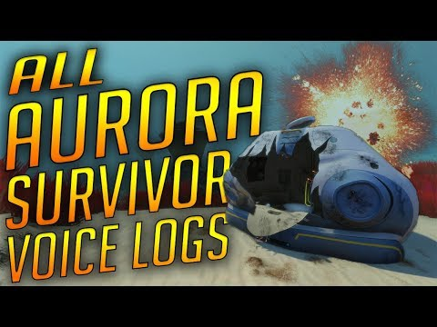 ALL AURORA LIFE-POD VOICE LOGS (NEW WITH VOICE ACTING) | Subnautica