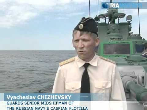 Russian Navy gunboats destroy mock enemy targets during exercise