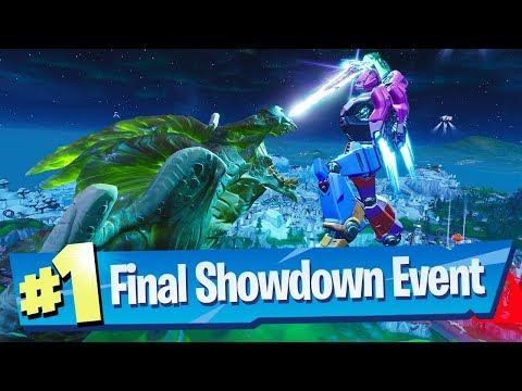 Fortnite Final Showdown (Robot vs Monster) Event FULL Gameplay Reaction