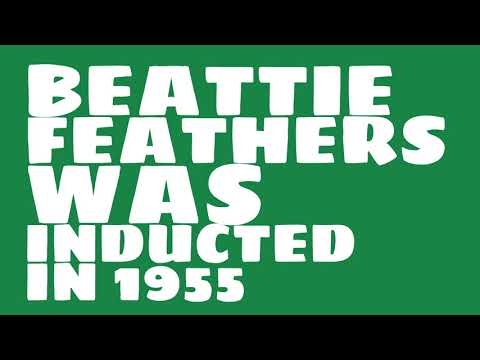 When was Beattie Feathers inducted into the College Football Hall of Fame?