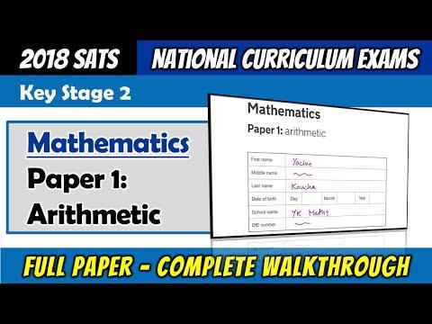 KS2 Maths SATS 2018   Paper 1 Arithmetic   Complete Walkthrough