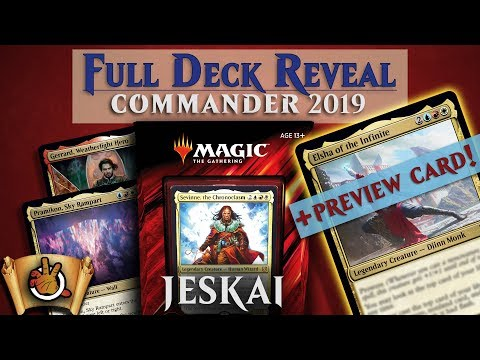 Commander 2019 Preview Card and JESKAI FLASHBACK Full Deck Reveal I