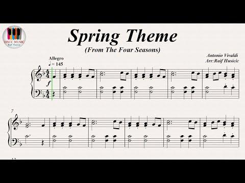 Spring Theme (From The Four Seasons) - Antonio Vivaldi , Piano
