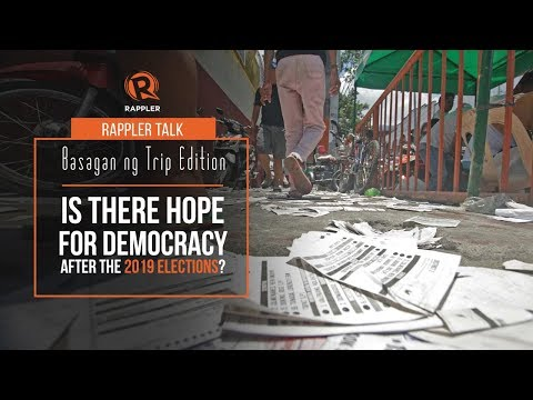 Rappler Talk Basagan ng Trip edition: Is there hope for democracy after the 2019 elections?