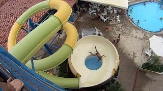 space bowl water slide at clube priv