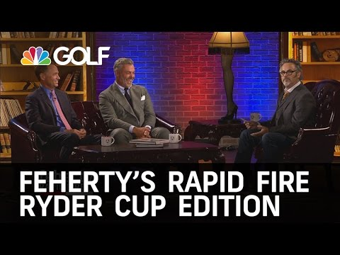 Feherty's Rapid Fire with 2016 Ryder Cup Captains   Golf Channel