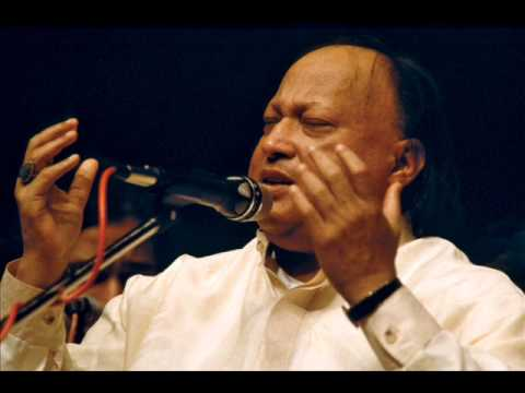 Nusrat Fateh Ali Khan - Sanu Ek Pal Chain Na... High Quality Song with Lyrics & Translation