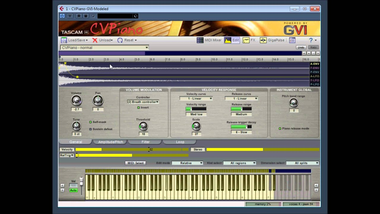 cv piano gvi modeled by tascam