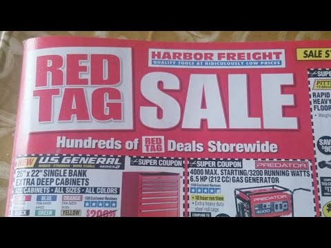 Harbor Freight Red Tag Sale