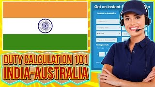 how to calculate airfreight import duty from india into australia