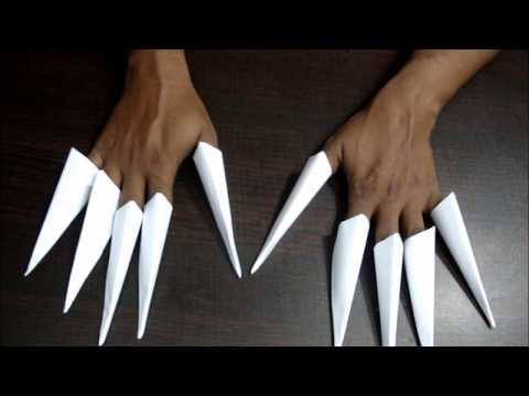How to make a paper finger claw step by step.