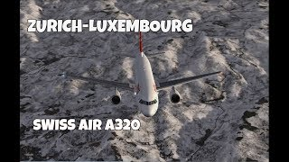 Swiss International Airlines A320 ZRH-LUX [FSX FULL IFR FLIGHT]