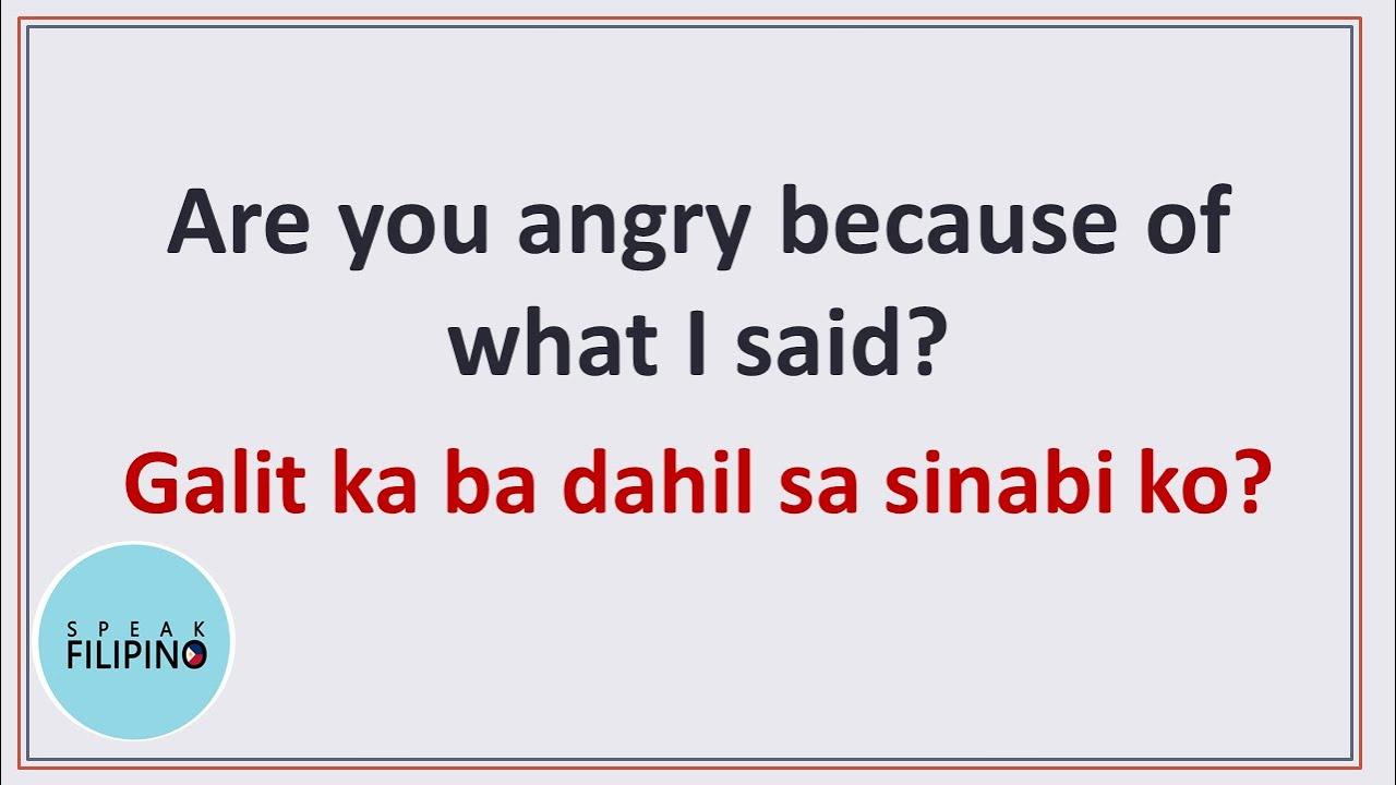 Filipino Phrases and Sentences! | DAHIL (BECAUSE) | English-Tagalog Translation