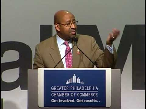 Mayor Nutter Speaks To The Greater Philadelphia Chamber of C