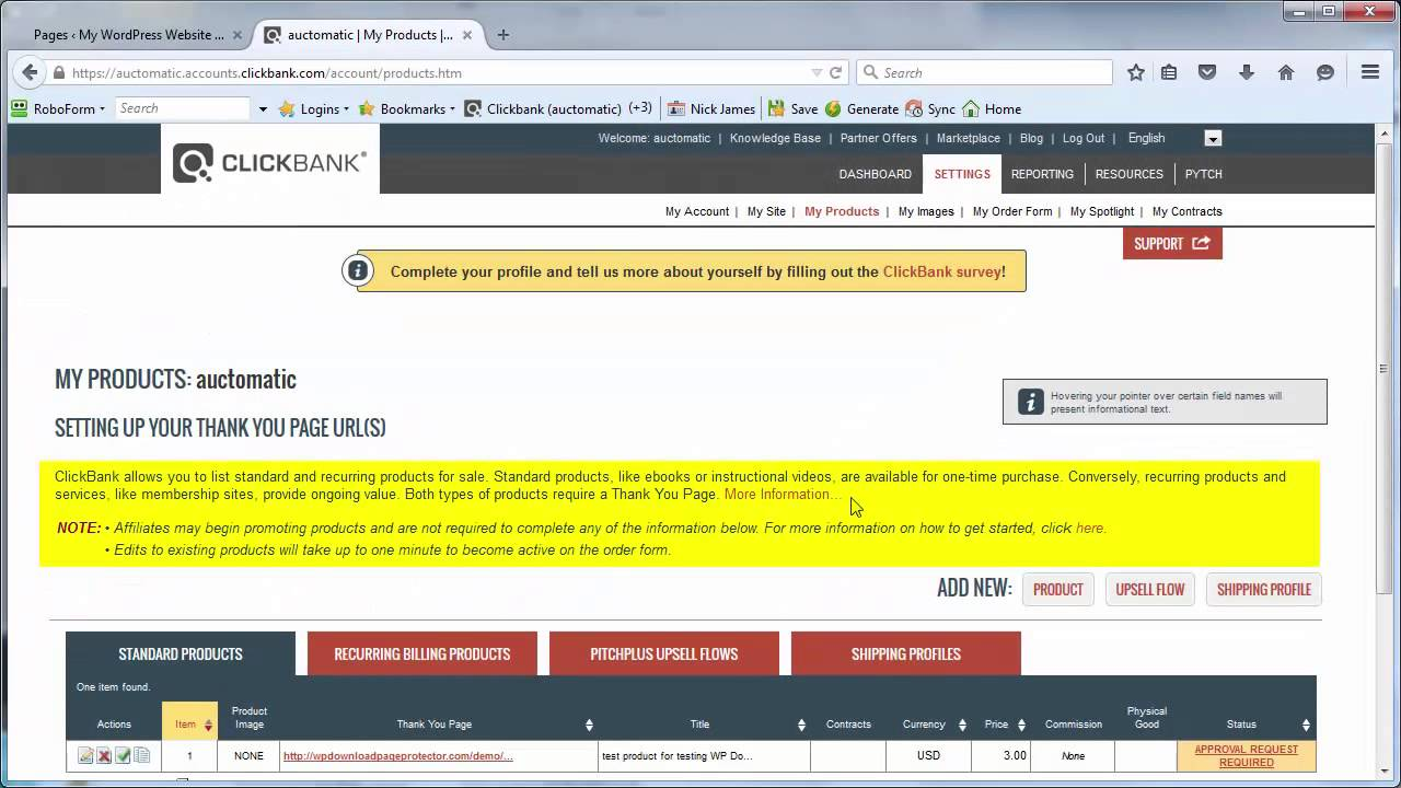 how to protect your clickbank thankyou page with