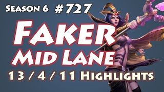 SKT T1 Faker - LeBlanc vs Taliyah - KR LOL SoloQ Highlights