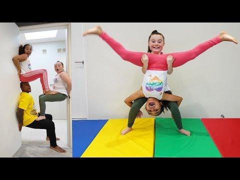 GYMNASTICS CHALLENGE!! Acrobatics & Tricks