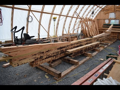 Dry fitting the keel on our wood boat, Diesel Duck 41. Sea Dreamer Project #18