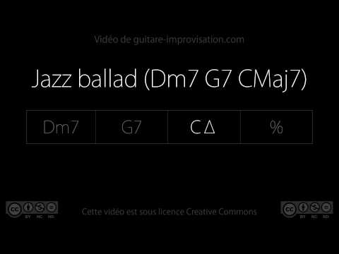 Jazz ballad (Dm7 G7 CMaj7) : Backing track