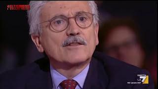 D'Alema a Damilano: 'Lei è uno stupido' dopo poco 'Mi scuso, lei è un conservatore di leggende'