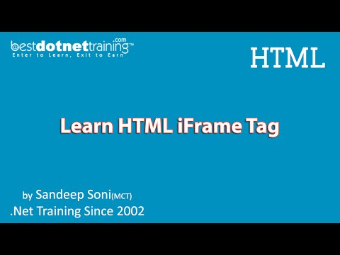 HTML Tutorial - HTML Iframe Example And Tutorial