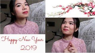 Vlog 156| Lunar New Year Make Up 2019 - Trang Điểm Đón Tết Của Mrs. Hood.