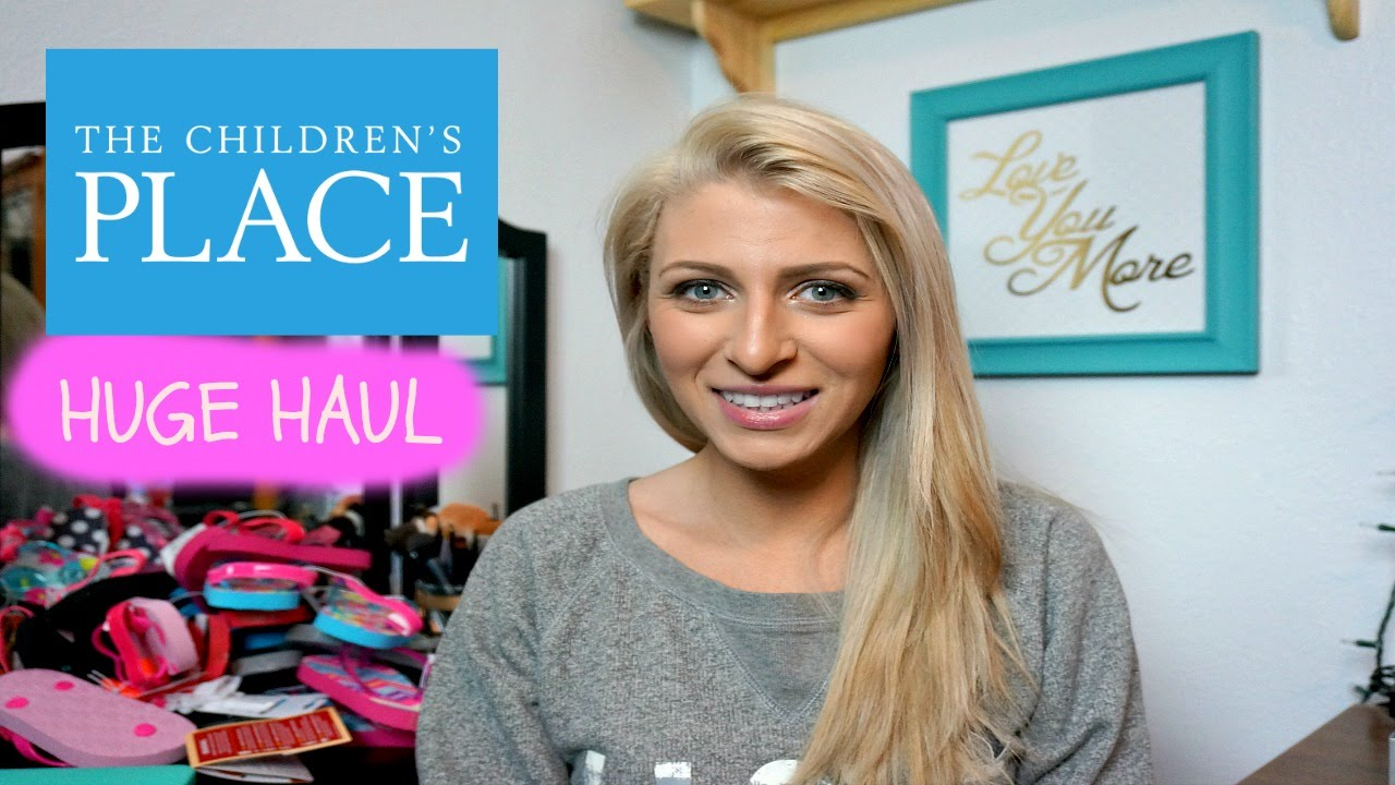 b02d7842a05 HUGE HAUL! The Children s Place. Clothing haul for my girls. - YouTube