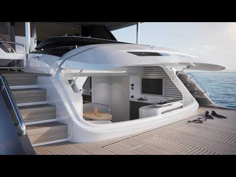 Princess Yachts Y95, The First-ever X95 Being Dipped Into The Water
