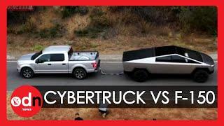 Elon Musk Posts Tesla Cybertruck Vs F150 Tug-Of-War