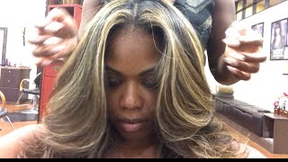 Dark Natural Hair to Light full highlight and lowlight