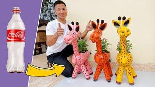 Vasos De Flores Em Formato De Girafa