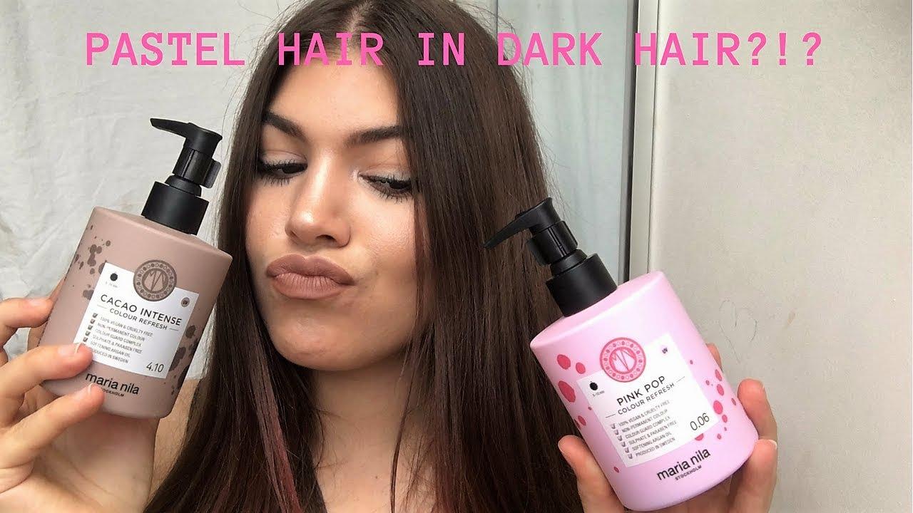 Pastel Hair Color In Dark Hair Maria Nila Vegan