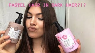 PASTEL HAIR COLOR IN DARK HAIR?!? | Maria Nila | Vegan