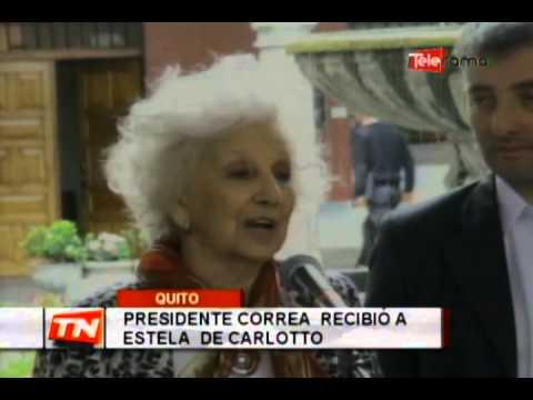 Presidente Correa recibió a Estela de Carlotto