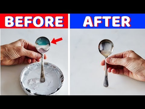 Homemade Silver Cleaner with Baking Soda and Aluminum Foil and Hot Water – House Keeper