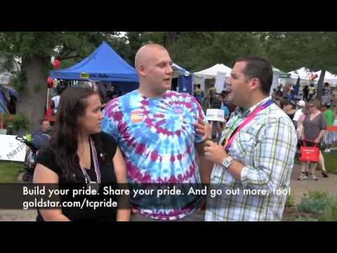 Ross Mathews interviews festival goers at Twin Cities Pride - Goldstar Half-Price Tickets