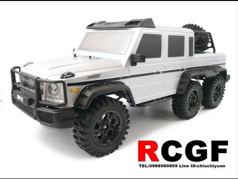 Rcgf rc benz amg g63 6x6 youtube for Mercedes benz rc car