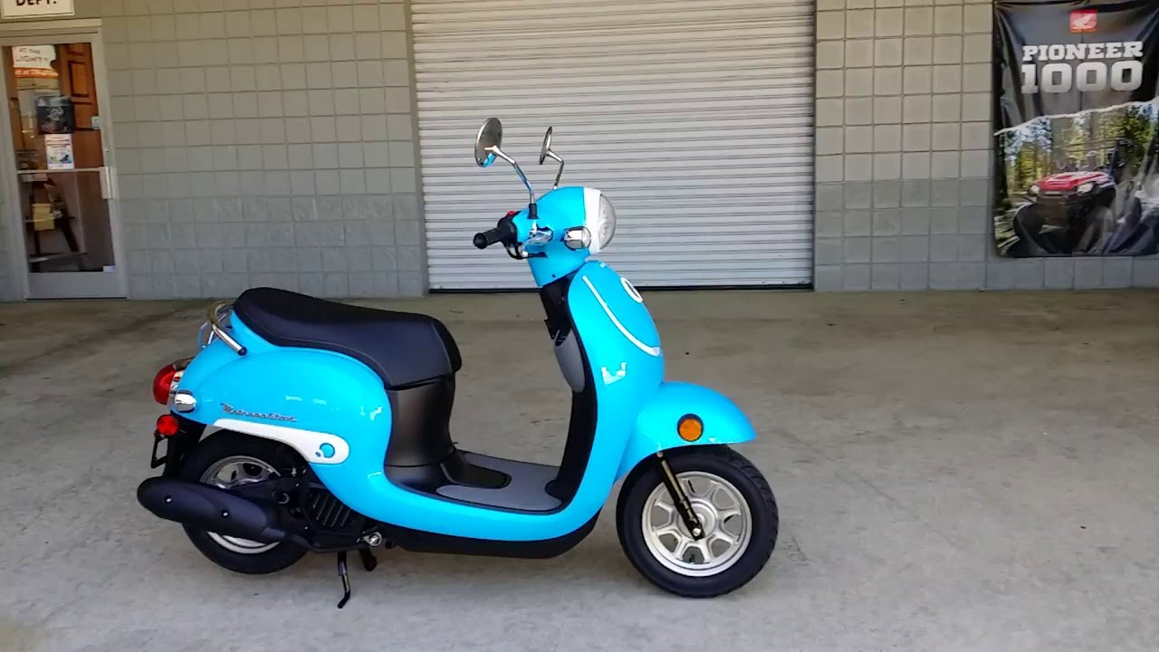 2016 honda metropolitan 50cc scooter blue walk around video review at. Black Bedroom Furniture Sets. Home Design Ideas