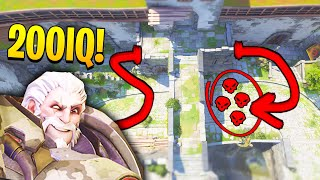 *OP* 200IQ Reinhardt FLANK trick..! - Mind-blowing plays & OP Clips - Overwatch Moments Montage #261