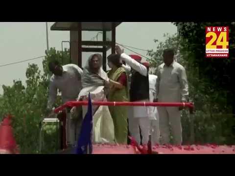 Dimple Yadav ने Jaya Bachchan के साथ मिलकर किया Prayagraj में रोड शो