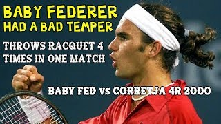 FURIOUS Baby Federer Throws Racket 4 Times In One Match! ● 4R 2000 RG
