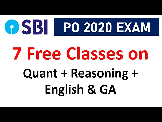 7 Free Classes for SBI PO 2020