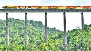 India's Tallest Rail Bridge FLYING Trains? Konkan Railway | Panval Viaduct