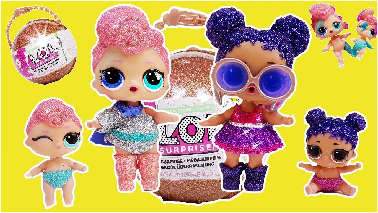 L O L Surprise Big Ball Gold Big Baby Dolls Lil Sisters Youtube