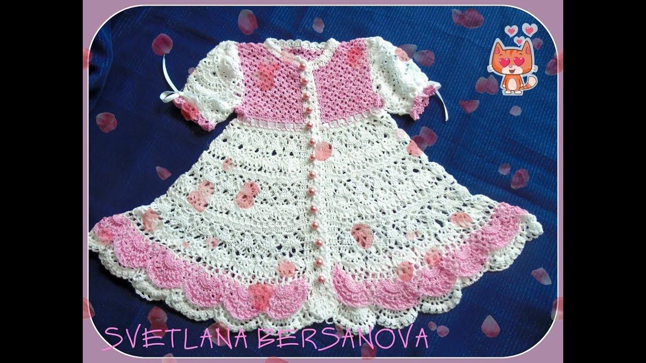Вязание крючком платья для девочки 3 месяца